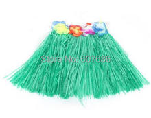 30 Pieces 30cm Hawaii Grass Skirt for Children Kids Boy Girl Short 8 Color Hula Skirt Dance Party Dress Supplies Free Shipping(China)
