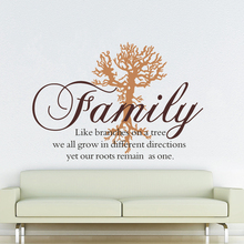 Family Like Branches Wall Decal Family Tree Art  Removable Wall Decals Mural, Living Room Wall Sticker Mural Family Tree Quote