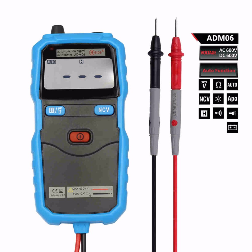 Bside ADM06 Auto function Mini pocket digital multimeter AC voltage detector Diode test With backlight and work light<br><br>Aliexpress