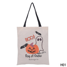 Halloween Gift Bag Large Sacks Canvas Cotton Drawstring Children Candy Bag Party Pumpkin Tote Bag Halloween