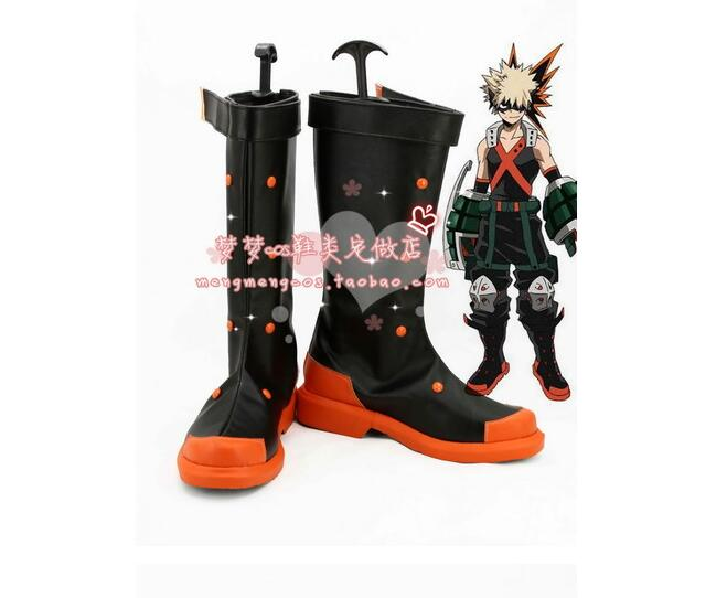 Boku Hero Academia Bakugou Katsuki Anime Cosplay costume pro boots shoes custom