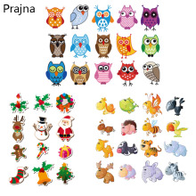 Prajna Cartoon Patches Iron on Transfer For Kids T Shirt Heat Transfer Stickers Cute Patches For Clothes Baby Badge Applique(China)
