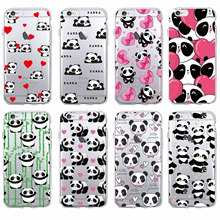 Cute Panda Heart Lover Cartoon Animal Soft Phone Case Cover Coque Fundas For iPhone 7 7Plus 6 6S 6Plus 5 5S SE 5C 4 4S SAMSUNG
