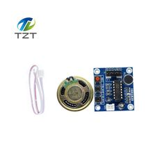 1PCS ISD1820 recording module voice module the voice board telediphone module board with Microphones + Loudspeaker for arduino