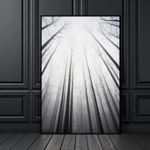 Scandinavian Canvas Painting Prints Tall Trees Forest Nordic Natural Wall Pictures Living Room Art Decoration Pictures No Frame