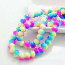 Buy Fashion Colors 40pcs Rondelle Faceted Crystal Glass Loose Spacer Beads DIY 8mm HB703 for $1.07 in AliExpress store