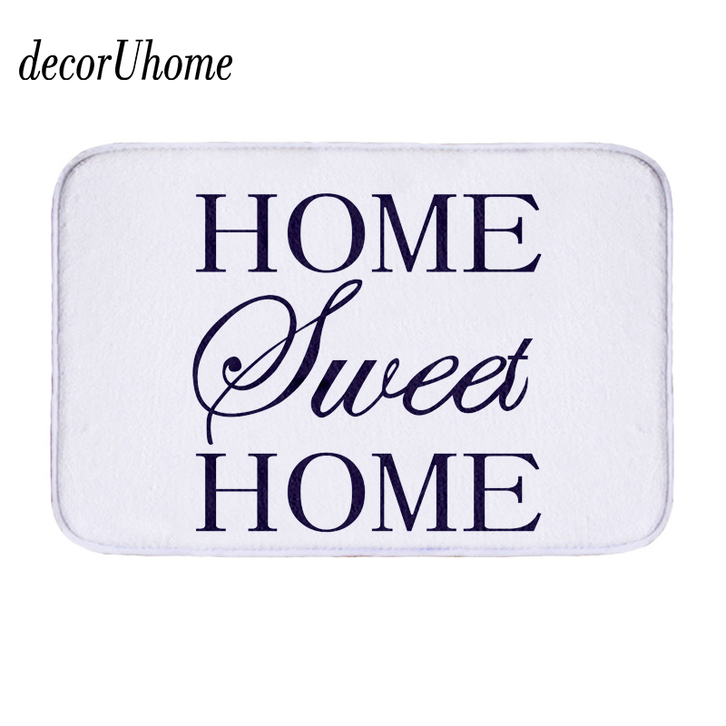 decorUhome Flannel Waterproof Floor Mats Anti-slip Mat Warm Letter Carpets Bedroom Rugs Decorative Stair Mats Home Decor Crafts