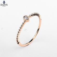 DAN'S Brand Real Austrian Crystal  Zirconia Water Drop Simple  Rings for Women Anti Allergies 97586