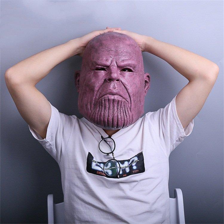 Thanos Cosplay Mask & Gauntlet Take Control of Your Infinity Saga Universe 8