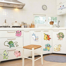 50*70CM Cute Child Wallpaper Pokemon Post Wall Stickers For Kids Rooms Baby Wall Decal Home Decoration Accessories