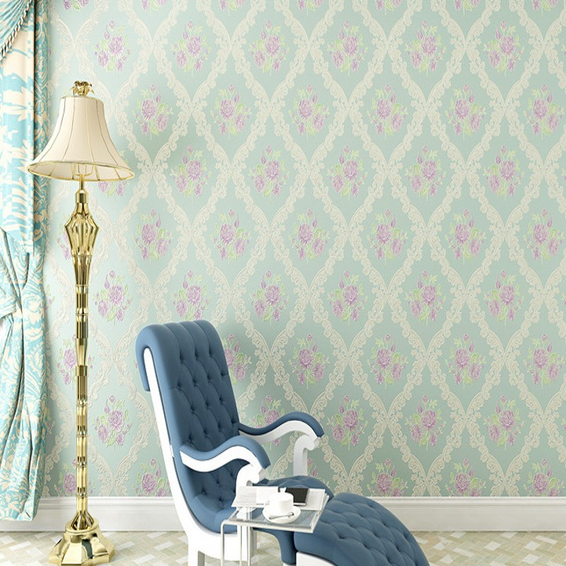 Free Shipping 3D Stereo Precision Nonwovens European Wallpaper Damascus Bedroom Living Room TV Background Wallpaper<br>