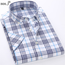 BDLJ Main Push 2017 New Men's Shirt Brand Plaid Shirt Fashion Men's Plaid Shirt Casual Long-Sleeved Men's  Shirt Slim Dress Tops