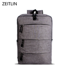 ZEITLIN Canvas Laptop Backpack Brand Design Book bag for students High Quality Travel bag Computer bag Rucksacks H987