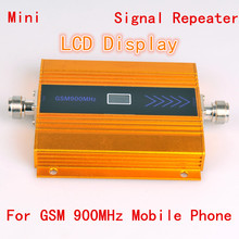 LCD display Best Price !!! High Gain mobile phone mini GSM 900mhz signal booster cell phone GSM signal repeater amplifier