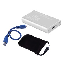 Mini mSATA to USB 3.0 SSD Hard Disk Box External Enclosure Case with Cable(China)