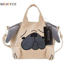 2017 3D Cartoon Dog Printed Women Messenger Bags Bolsa Feminina Canvas Tote Shopping Handbags sac a main femme de marque(China)