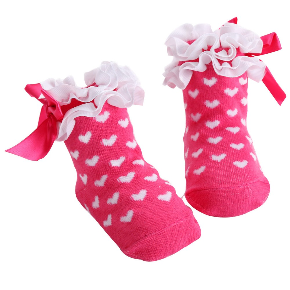 Cute Bowknots Princess Lace Newborn Socks Baby Knee Socks;Novelty Toddler Kids Cotton Baby Girls Socks Leg Warmers Infantile(China)