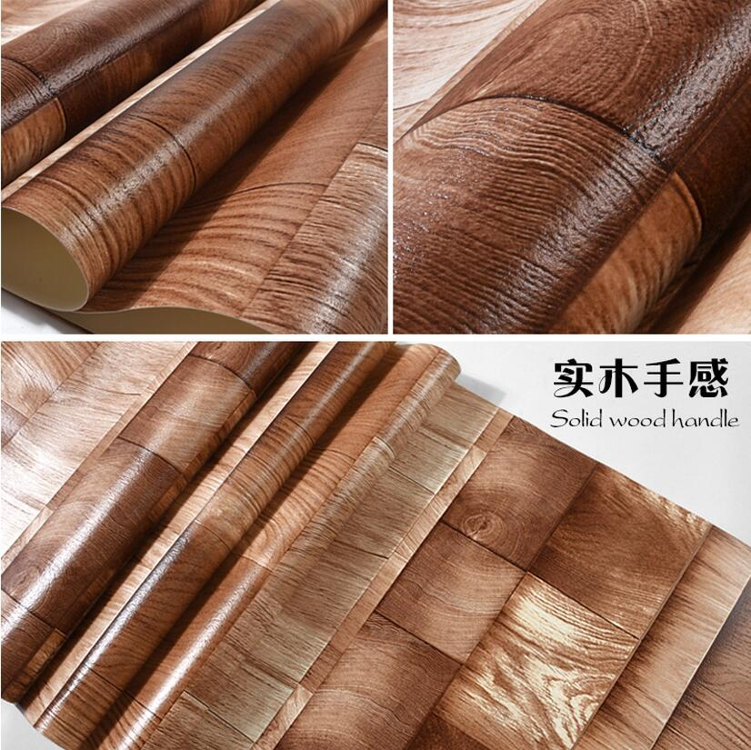 Vintage personality nostalgic wood board wood grain wallpaper casual wallpaper <br>