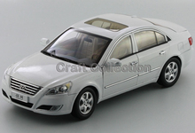 Special Offer! White 1/18 Hyundai Sonata NFC Alloy Model Car Christmas Toy Gift Classical Style Cars for Sale Aluminum Products
