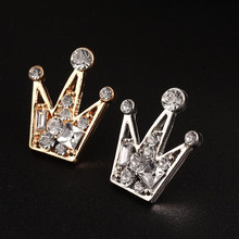 2017 Fashion 1 Pcs Brand Elegant Crystal Crown Brooches For Women Accessories Crystal Wedding Gift Crown Man Lapel Pin Hot Sell