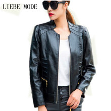 Plus Size 3XL 4XL Motorcycle Leather Jacket Women Suede Jacket Black Red Blue Leather Coat For Women's Pu Coat Veste Cuir Femme