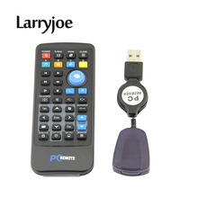 Larryjoe Universal USB Media IR Wireless Mouse Remote Control USB Receiver For Loptop PC Computer Center Windows Xp Vista(China)