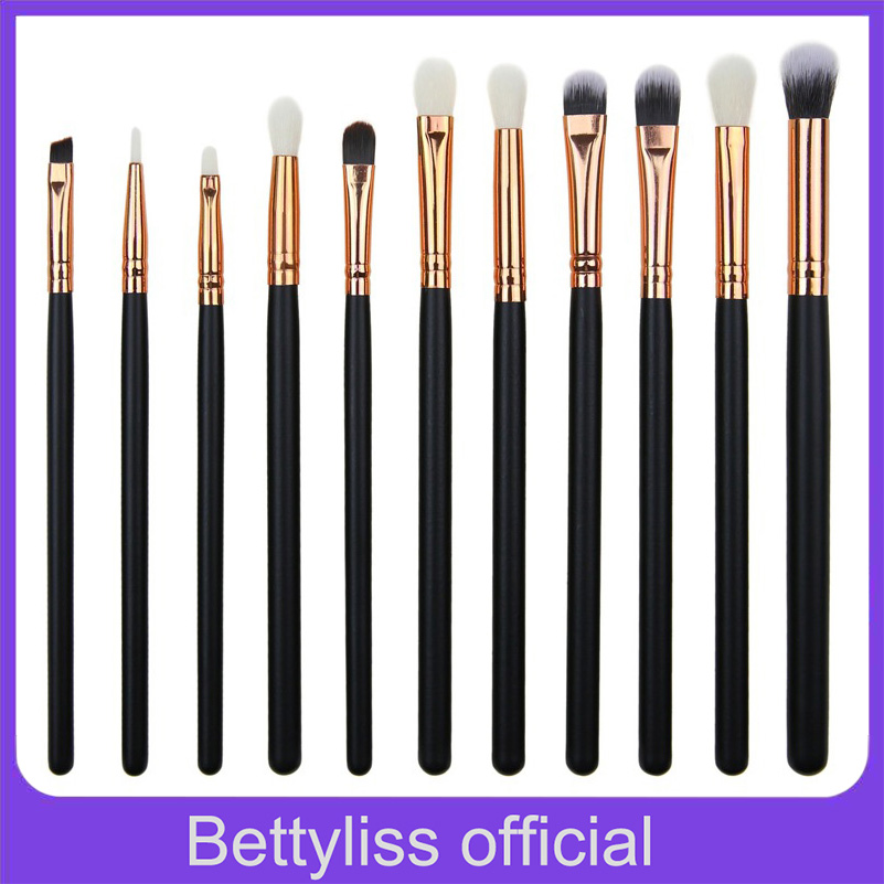 Bettyliss 12pcs Eyeshadow Makeup Brushes Set Pro pinceaux maquillage eyebrow brush Blending Make Up Brushes Soft Synthetic Hair(China)