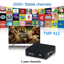 1 Year IPTV Channels TVIP412 TVIP Internet Tv Box More 2000+ Arabic Europe Channels Support M3U Stalker EPG Youtube Airplay(China)