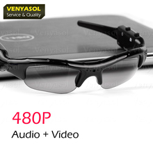 VENYASOL 480P  Glasses Camera Outdoor Sports Mini Polarizer Sunglasses Camcorder Secert  Security smart Cam DV