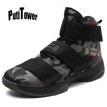 Plus Size Men Women Basketball Shoes High Tops Professional Sneakers Camouflag Ankle Boots Jogging Trainers Chaussure Homme 2089
