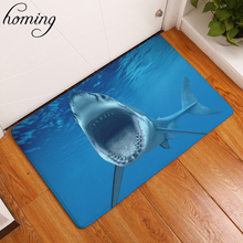 Homing Dust Proof Welcome Home Hallway Carpets Cool Shark Cow Monkey Animals Print Mat Water Absorption Bedroom Home Decor Craft(China)