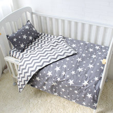 5Pcs Baby Bedding Set For Crib Newborn Baby Bed Linens For Girl Boy Detachable Cot Sheet Quilt Pillow Including The Filling(China)