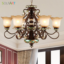 Lamp Resin Antler Chandelier Lighting Modern Ceiling Pendant Industriel European Lustre Vintage Chandelier(China)