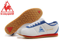 Le Coq Sportif Men's Running Shoes,High Quality Canvas Upper Le Coq Sportif Men's Athletic Shoes Sneakers White/Blue/Golden 2