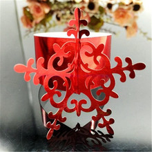 New 100pcs Laser cut Snowflake Napkin Rings Serviette Holder Table Decoration Wedding Banquet Dinner Decor Towel Buckle 7ZSH099