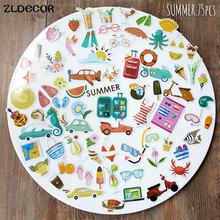 ZLDECOR Summer Die Cuts Stickers for Scrapbooking Happy Planner/Card Making/Journaling Project 75pcs