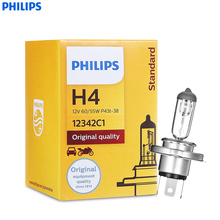 Philips H4/9006 12342PRC1 55W 1100LM Standard Car Headlights Auto Front Bulb Automobiles Headlamp Haloge Car foglight(China)