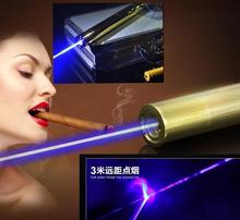 Power military 450nm blue laser pointers 20000mw burning match/dry wood/candle/black/cigarettes with 5 star caps metal box