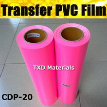Colorful PVC heat transfer film for garment pink color by free shipping CDP-20 PINK WHOLE ROLL SIZE:50CMX25M/ROLL