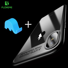 FLOVEME Ultra Slim Phone Case For iPhone X 6 6s 7 8 Plus Soft Silicone TPU Cover For iPhone X 6 6s 7 8 Plus Back Case Cover Bag(China)