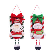 Cute Lovely Santa Claus Snowman Hanging Pendant Christmas Tree Ornaments Christmas Decoration Supplies for Supermarket Store(China)