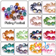 Crystal Glass Beads Round 6 8 10mm AB Color 32 Faceted Fooball Decorative Loose Beading For Accessories DIY Making Bracelets