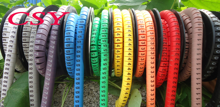 10 roll/set EC-3 10.0mm2 10 different number and color 0-9 cable marker set<br><br>Aliexpress