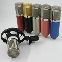 BM800 High Quality Professional Condenser usb Sound Recording mic bm 800 3.5 mm jack Microphone + Shock Mount  for computer