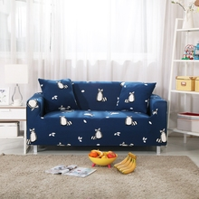 Cartoon Raccoon Navy Blue Universal Stretch Sofa Covers Couch Loveseat Sofa Slipcovers Anti-dirty Corner Sofa Slipcovers Tight