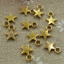 1200 pieces Antique gold star charms 11x8mm #1162