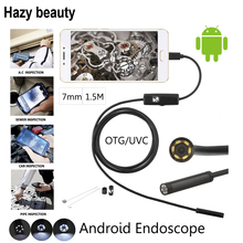 Hazy beauty 10pcs/lot 7mm 1.5M Camera Lens USB Cable Waterproof 6 LED For Android Endoscope Mini USB Endoscope Inspection Camera(China)