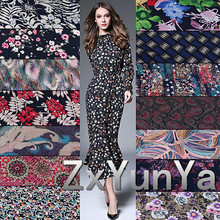 Discharge Print  No Fading Man-made  Printed Rayon Fabric Carved Uniforms Dress Pajamas Clothing Cotton Fabrics