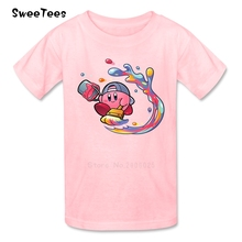 children T Shirt Kirby Cotton Short Sleeve Round Neck Tshirt Tee-shirt boys girls 2018 New Arrival T-shirt For baby(China)