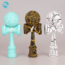 High quality wooden kendama toys best wooden toy for kids outdoor sport ball colorful kendama Crack paint(China)